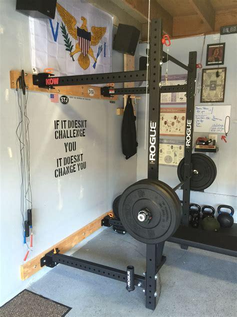 gym garage rogue crossfit folding rig gyms basement weights bumper uploaded user