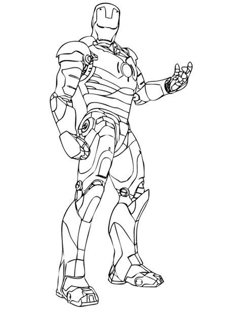 invincible iron man coloring page netart