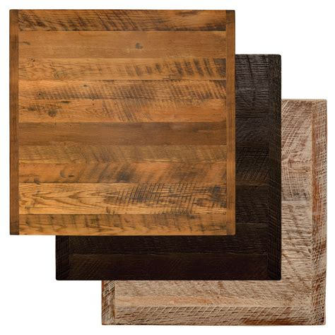table 60x60 cuisine 24 quot square reclaimed barn wood restaurant table top bar
