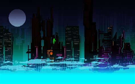 Pixel Backgrounds Digital Pixel City Colorful Concept