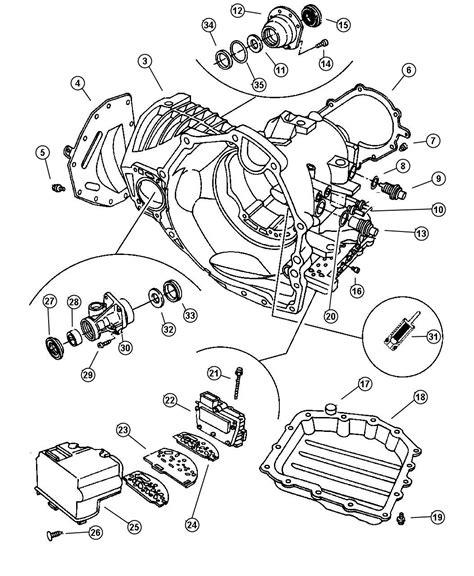 41te Transmission Diagram by New Genuine Mopar 04799844ab Transmission Solenoid Gasket