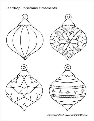 christmas tree ornaments  printable templates