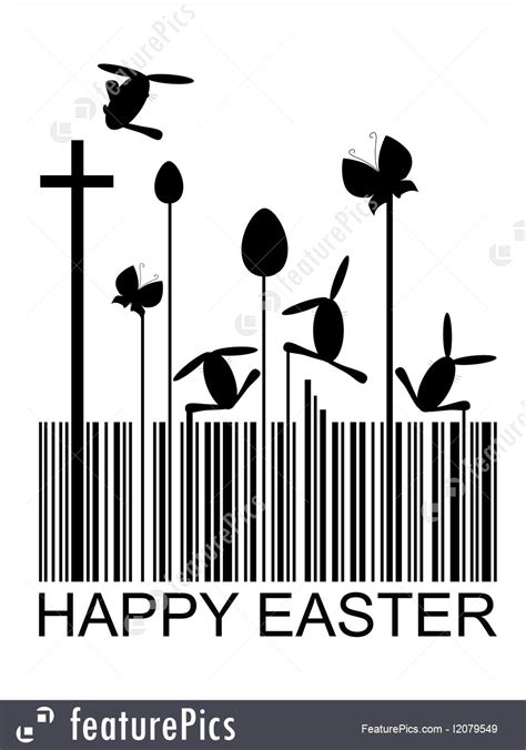 templates easter barcode stock illustration
