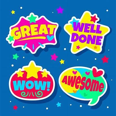 Reward Stickers Teacher Vector Rewards Clipart Students