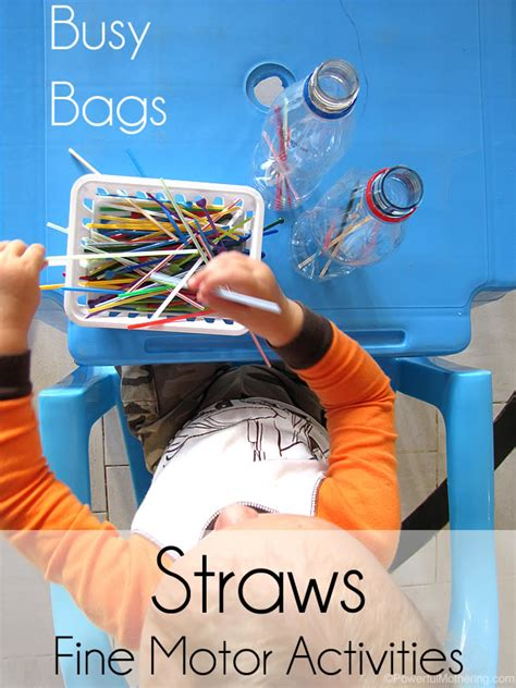 busy bags  straws
