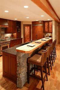 A, Guide, For, Kitchen, Island, With, Breakfast, Bar, And, Granite, Top