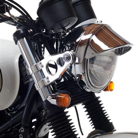 british customs chrome  motorcycle eyelid headlamp peak visor