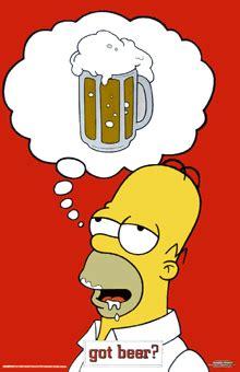 simpsons  beer poster homer simpson beer homer