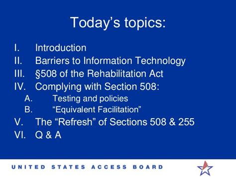 section 508 of the rehabilitation act section 508 accessibility idrac 2014 timothy creagon