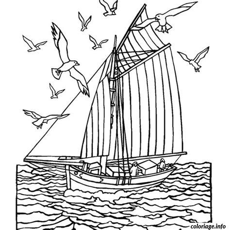 Dessin Bateau Mer coloriage mer bateau jecolorie