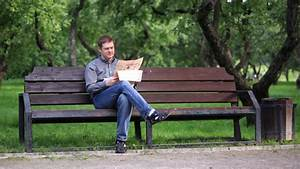 Man Reads Newspaper On Bench In The Park 1 by Grey_Coast ...