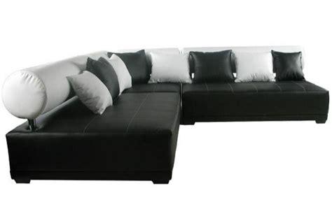 canapé simili cuir blanc photos canapé noir et blanc simili cuir