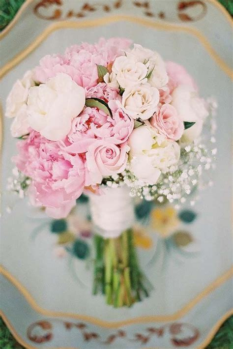 soft pink wedding bouquets  fall  love