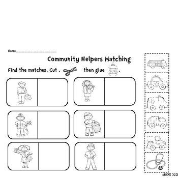 community helpers activity sheets crane mobile teaching