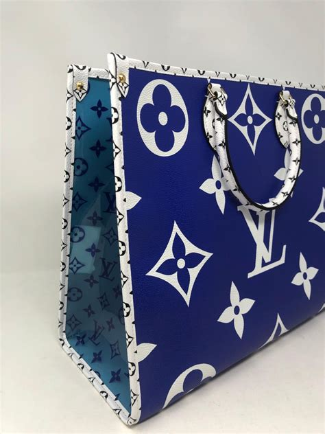 louis vuitton blue giant monogram    santa monica  sale  stdibs