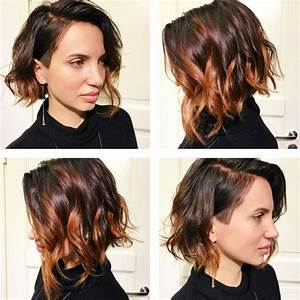 Balayage Cheveux Bouclés : carre plongeant avec balayage best couleur with carre ~ Dallasstarsshop.com Idées de Décoration
