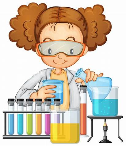 Lab Science Class Student Clipart Experiment Cartoon
