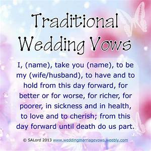 traditional wedding vows video search engine at searchcom With traditional wedding ring vows