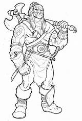 Barbarian Coloring Conan Pages Dnd Drawing Character Characters Dungeons Dragons Edge Deviantart Baldeon Adult Drawings Sword Satanic Concept Lineart Sketches sketch template