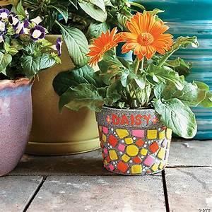 Paint, Your, Own, Stone, U202dmosaic, Flower, Pot
