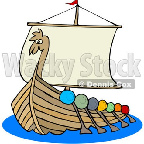 Cartoon Mayflower Boat by Clipart Viking Dragon Ship With Oars Royalty Free Vector