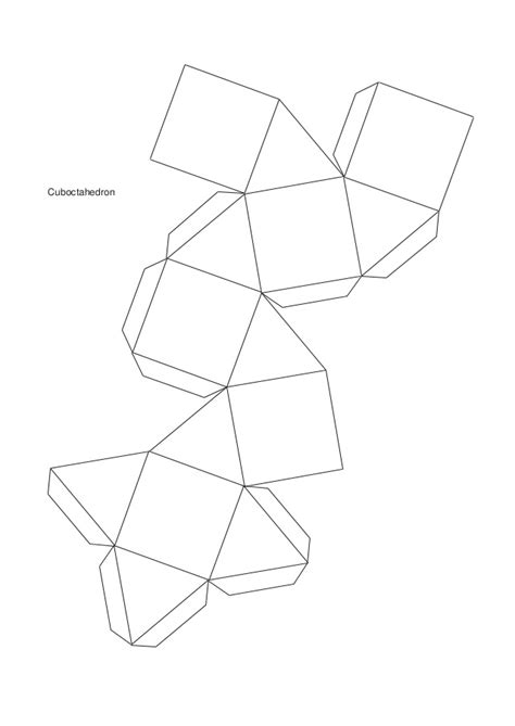 Truncated Cuboctahedron Template by Molde De Poliedros