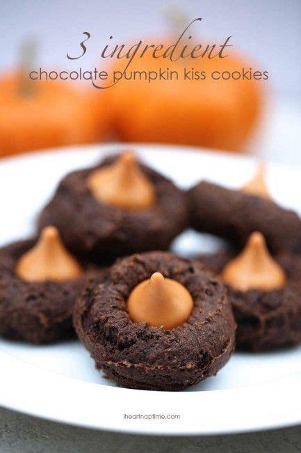 chocolate pumpkin kiss cookies recipe   recipe