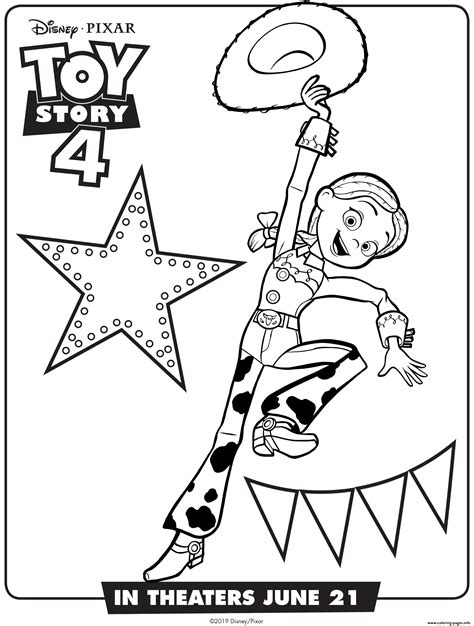 toy story  jessie coloring pages printable