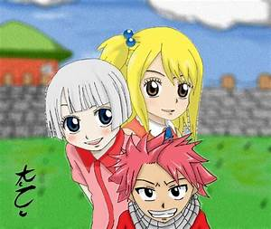 natsu, lisanna and lucy kids by KuroNightcliff on DeviantArt