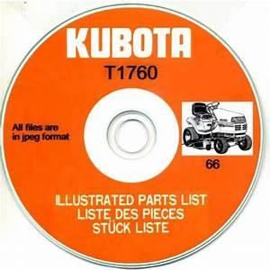 Kubota T1760 Illustrated Parts Manual On Cd