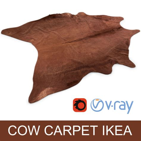 Koldby Cowhide Review by Max Cowhide Rug Photorealistic Interior