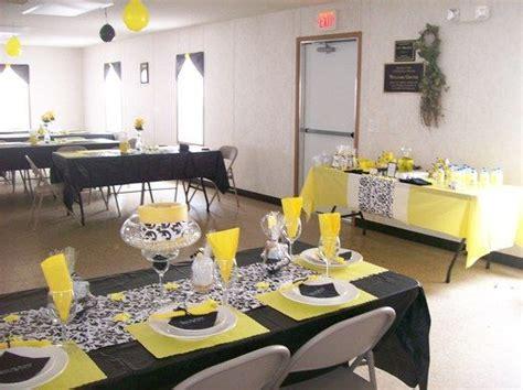 yellow black n white paisley birthday party ideas white