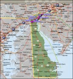 Delaware Map Cities