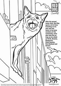 red dog Colouring Pages