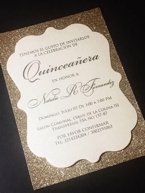 quinceanera invitation glitter quinceanera invitations