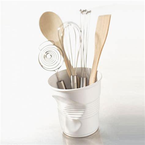 pot ustensile cuisine pot à ustensiles 1l froissés blanc revol pots à