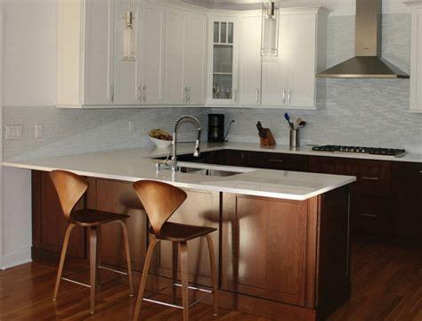 Open Shelves In Kitchen Ideas - a kitchen peninsula better than an island