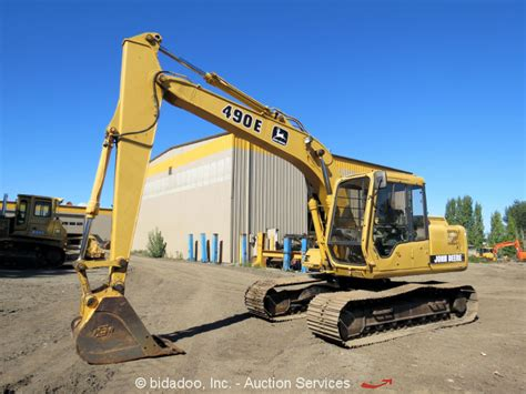 john deere  hydraulic excavator  turbo diesel heated cab  bucket  sale