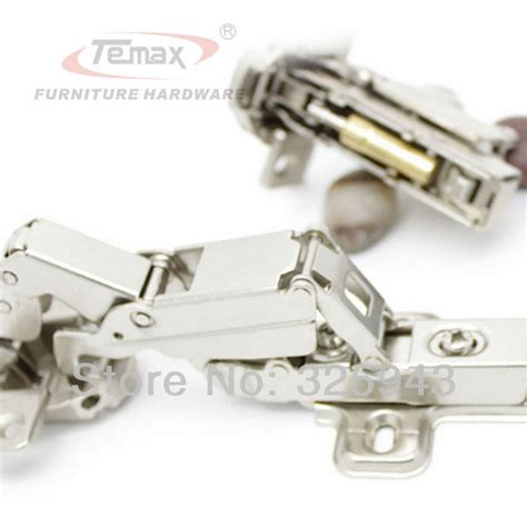 hydraulic cabinet door hinge full overlay temax furniture hinge steel and brass buffer