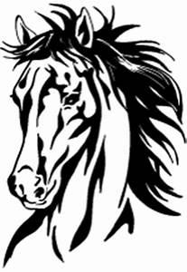 Pferdekopf Schwarz Weiß : aufkleber pferdekopf 4 pvc aufkleber als folienplot wetterfest und konturgeschnitten f r auto ~ Watch28wear.com Haus und Dekorationen