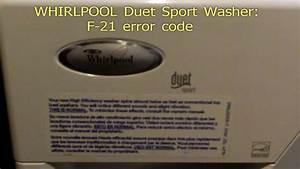 Whirlpool Duet Sport F21 Error Code Fix