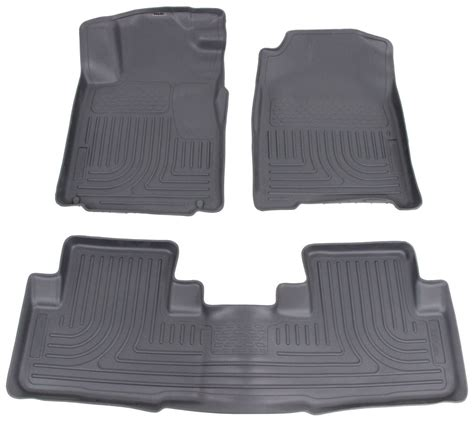 floor mats for honda crv 2015 honda cr v husky liners weatherbeater custom auto floor liners front and rear gray