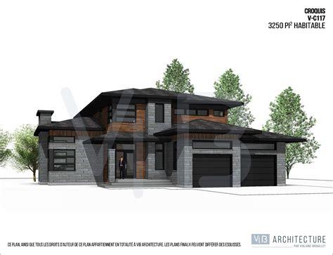 maison contemporaine plain pied avec garage mc