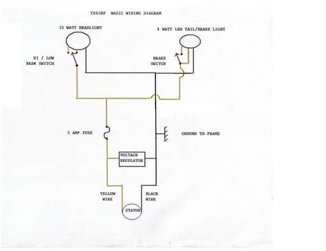 Brake Warning Light Switch Diagram by Tutorial Yz450f 06 Up Electrical System For Lights