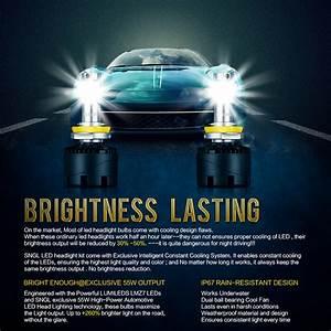 Sngl 9006 Hb4 Led Headlight Conversion Kit Low Beam 110w