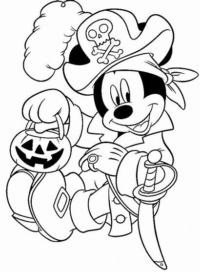 Disney Halloween Dibujos Colorear Imprimir Mickey Gratis
