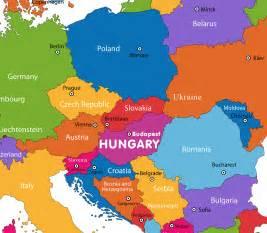 Hungary On Europe Map
