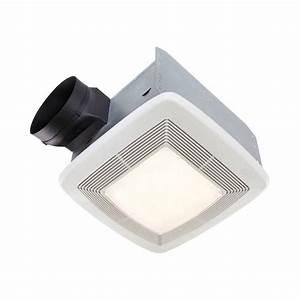 Shop broan 07 sone 110 cfm white bathroom fan energy star for How many cfm for bathroom fan