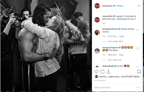 becky lynch  seth rollins confirm relationship sharing