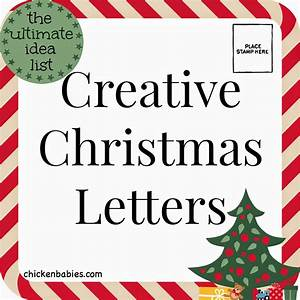 chicken babies creative christmas letters With christmas letter pictures